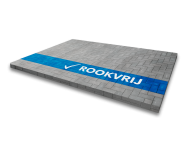 Markering - wegenverf -  blauwe lijn + logo ROOKVRIJ (wit) 2000x200mm hoog