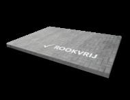 Markering - wegenverf -  logo ROOKVRIJ (wit) 180mm hoog
