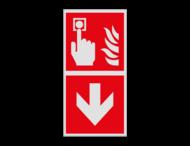 Haaks bord F005 - Richting Brandmelder