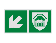 Haaks bord E021 - Schuilplaats verwijzing