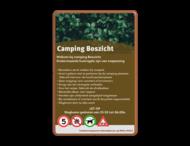 Informatiebord huisregels voor camping en recreatieparken