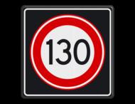 Verkeersbord RVV A01 130s - Maximum snelheid 130 km/h