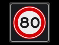 Verkeersbord RVV A01 80s - Maximum snelheid 80 km/h