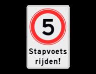Verkeersbord Snelheid met ondertekst