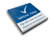 SMOKE-FREE - 300x300mm Stoeptegel