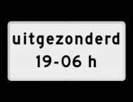 Verkeersbord RVV OB203p - Onderbord - Geldt alleen voor periode