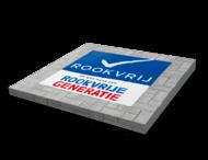 Wegmarkering - Logo Rookvrije Generatie - Thermoplast