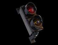 Verkeerslantaarn LED 2xØ100mm polycarbonaat