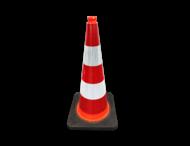 Verkeerskegel 75 cm reflecterend - Officiële verkeerskegel