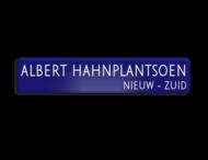 Straatnaambord ALU-DOR 1000x200x28mm - type Amsterdam