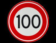 Verkeersbord RVV A01-100 - Maximum snelheid 100 km/h