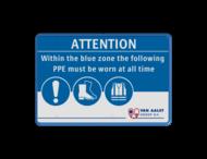 PBM bord rechthoek 3:2  full-colour opdruk