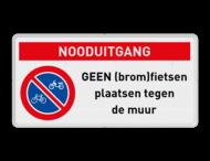 Geen (brom)fietsen plaatsen RVV E03 + Banner