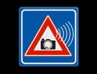 Roodlicht controle camerabewaking verkeersbord