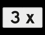 Verkeersbord RVV OBE04 - Onderbord - 3x OB504