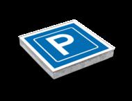 Parkeertegel 300x300mm - Aanduiding parkeerplaats