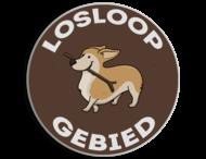 Verkeersbord - Losloopgebied honden