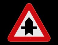 Verkeersbord SB250 B15a - Voorrang op kruisende zijwegen