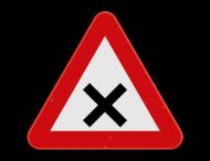 Verkeersbord SB250 B17 - Kruispunt waar de voorrang van rechts geldt