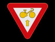 Verkeersbord SB250 B23 - Fietser rechtdoor