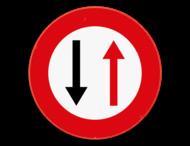 Verkeersbord SB250 B19 -Smalle doorgang