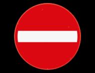 Verkeersbord SB250 C1 - Verboden richting voor iedere bestuurder