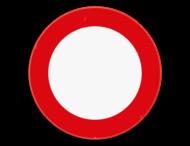 Verkeersbord SB250 C3 - Verboden toegang, in beide richtingen, voor iedere bestuurder.