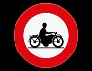 Verkeersbord SB250 C7 - Verboden toegang voor bestuurders van motorfietsen