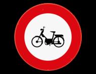 Verkeersbord SB250 C9 - Verboden toegang voor bestuurders van bromfietsen