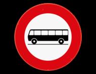 Verkeersbord SB250 C22 - Verboden toegang voor bestuurders van autocars