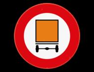 Verkeersbord SB250 C24a - Verboden toegang voor bestuurders van voertuigen die gevaarlijke goederen vervoeren
