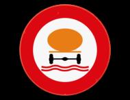 Verkeersbord SB250 C24c -Verboden toegang voor bestuurders van voertuigen die gevaarlijke verontreinigende stoffen vervoeren