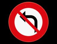 Verkeersbord SB250 C31a - Verbod om aan het volgend kruispunt links af te slaan