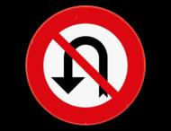 Verkeersbord SB250 C33 - Vanaf het verkeersbord tot en met het volgend kruispunt, verbod te keren