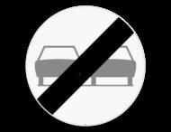Verkeersbord SB250 C37 - Einde verbod opgelegd door het verkeersbord C35
