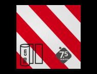 Reflecterende folie met banen wit/rood Klasse 1