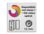 Magneetbord reflecterend klasse 1 met full colour opdruk
