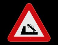 Verkeersbord SB250 A11 - Uitweg op kaai of oever