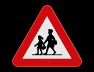Verkeersbord SB250 A23 - Opgelet Kinderen