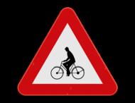 Verkeersbord SB250 A25 - Oversteekplaats voor fietsers en bromfietsers