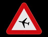 Verkeersbord SB250 A35 - Vliegtuigen op geringe hoogte