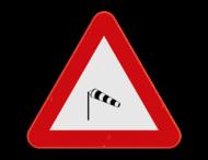 Verkeersbord SB250 A37 - Zijwind