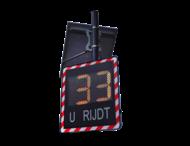 Snelheidsdisplay I-SAFE TS1 - LED met datacollectie
