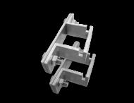 Kokerbeugel - set - 40x40mm - T2000
