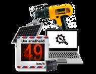 Installatie & Montage - Snelheidsdisplay met zonnepaneel - Bestaande mast of paal