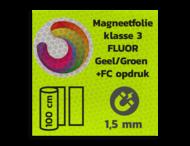 Magneetbord reflecterend FLUOR Geel/Groen klasse 3 geprint + full colour opdruk