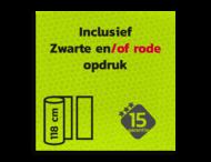 Reflecterende folie FLUOR-Geel-Groen + Zwart/Rode print klasse 3 T-7513