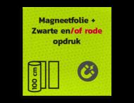 Magneetbord reflecterend FLUOR Geel/Groen klasse 3 geprint + Zwart/Rood
