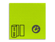 Magneetbord reflecterend FLUOR Geel/Groen klasse 3 T-7513