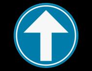Verkeersbord SB250 D1a - Verplicht rechtdoor